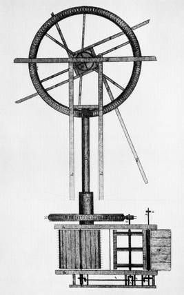 Meikle's threshing machine, c 1788.