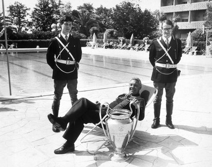 Joe Fagan with the European Cup, Rome, 31 May 1984.
