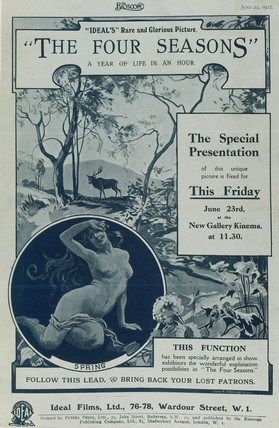Poster advertising 'The Four Seasons',  1922.