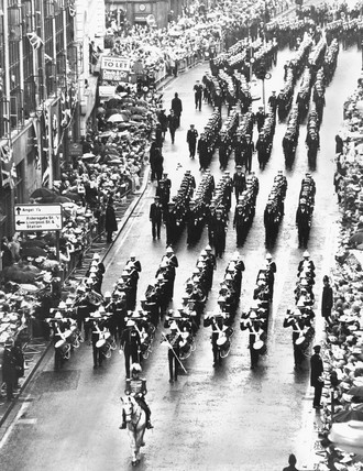 Victory parade, Falklands War, City of London, 13 October 1982.