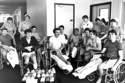 Falklands wounded, 14 October 1983.