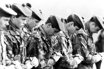 British soldiers, 1980s.