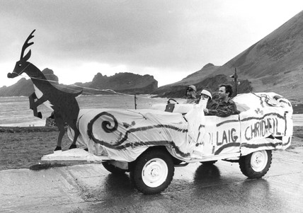 Father Christmas in his sleigh, St Kilda, 21 December 1978.