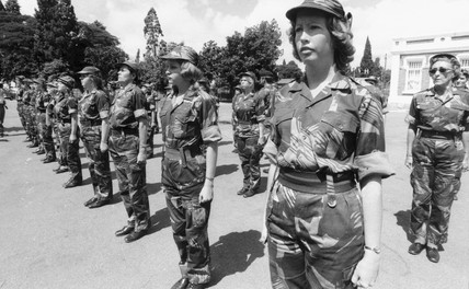 'Rhodesian army girls on parade' 12 August 1977.