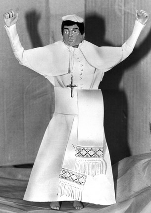 Action Man in pope outfit, March 1982.