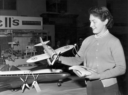 Exhibition of model planes, Manchester Corn Exchange, March 1956.