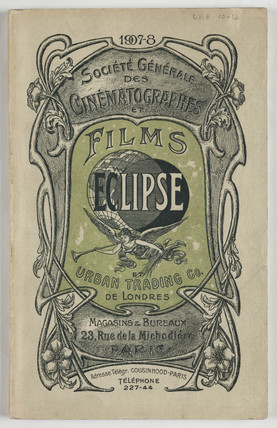 Catalogue cover, 1907.