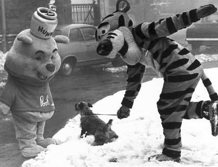 Winnie the Pooh and Tigger, January 1970.