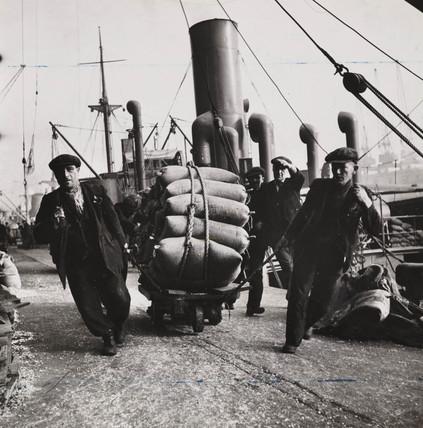 Liverpool docks, 1942.