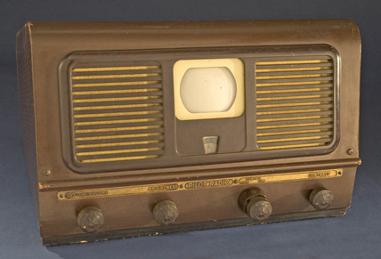 Pilot TV 37 television receiver ('suitcase' set), c 1948.