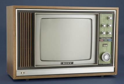 Sony Trinitron colour television receiver, c 1970.