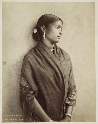 Kandian woman, Ceylon, c 1870.
