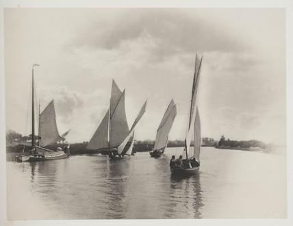 'A Sailing Match At Horning', 1885.