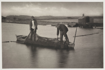 'Taking Up the Eel Net', 1887.