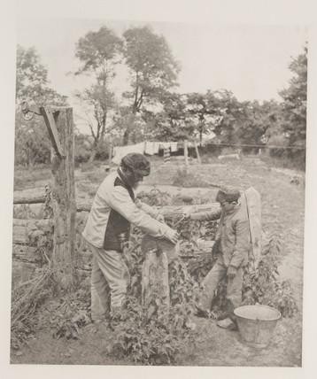 'At The Grindstone - a Suffolk Farmyard', 1888.