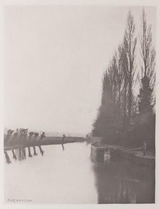 Poplars and Pollards on the Lea near Broxbourne, 1888.