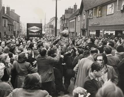 'Shrovetide Football at Ashbourne', 21 February 1950.