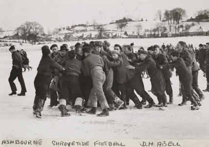 'Ashbourne Shrovetide Football', 1947.