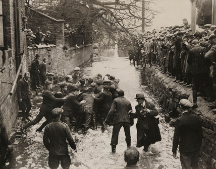 'Annual Shrovetide Football at Ashbourne', 1932.