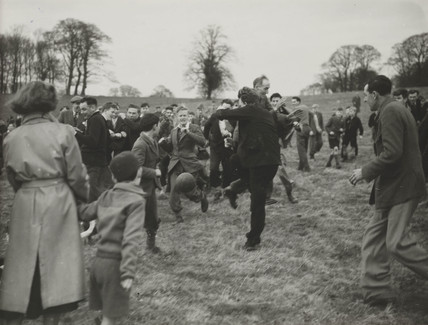 Shrove Tuesday football in Alnwick, 1953.