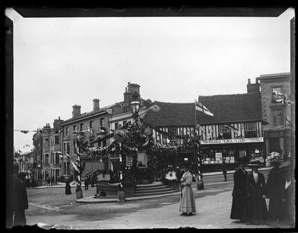 'Coronation Decorations In Halstead', 1910