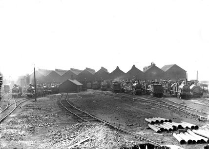 Polmadie Shed, Glasgow, c 1890.