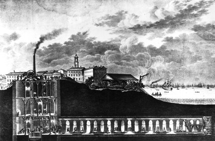 The Thames Tunnel, London, before 1843.