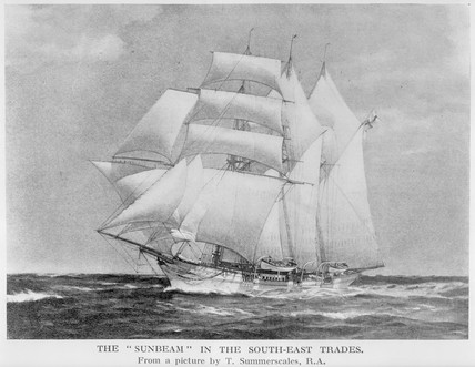 The screw yacht 'Sunbeam', 1874.