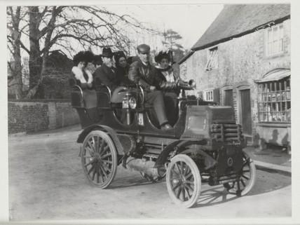 Early motorcar, 1902.