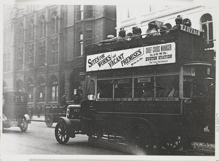 Indian soldiers on a London bus, c 1916.