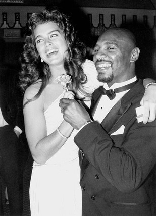 Brooke Shields and Marvin Hagler, May 1985.