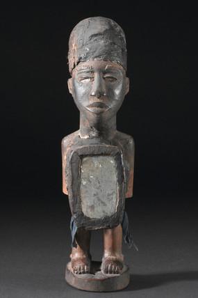 Wooden statue, Congo.