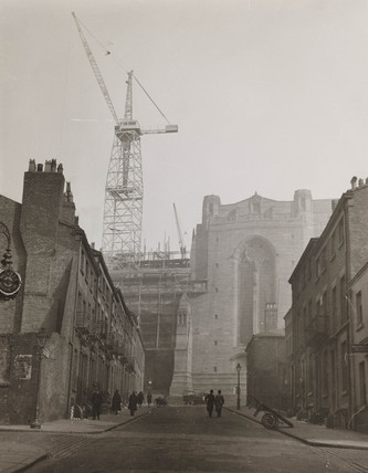 Building of Liverpool Anglican Cathedral,1934.