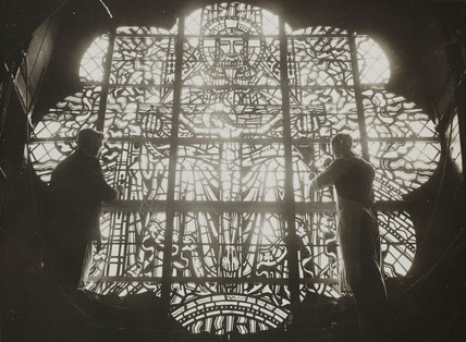 Building of Liverpool Anglican Cathedral,17 April 1934.