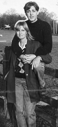 Paul and Linda McCartney, October 1984.