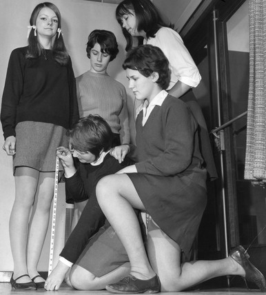 'Students face mini-skirt fine', December 1967.