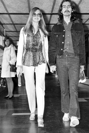 George Harrison and wife Patti, September 1969.