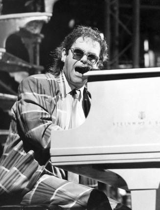 Elton John, November 1985.