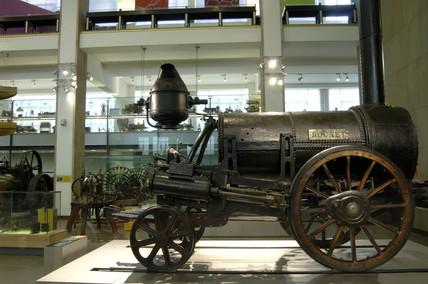 Stephenson's 'Rocket' locomotive, 1829.