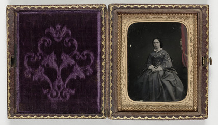 Portrait of a woman, c 1860.