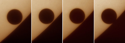 Transit of Venus - egress, 2004.