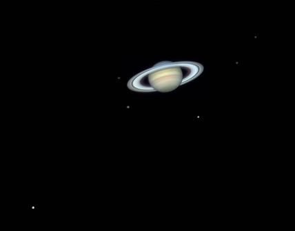 Saturn's moons, 2006.