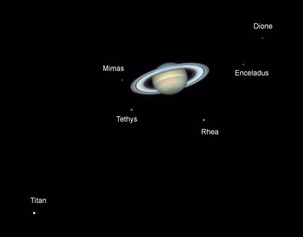 Saturn's moons, 2006.
