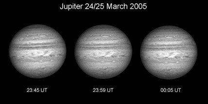 Jupiter in infrared light, 2005.