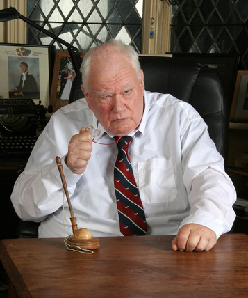 Sir Patrick Moore, British astronomer, 2007.