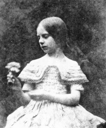 Rosamund holding a flower, c 1844.