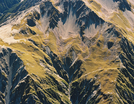 Fault lines, Arrowsmith Range, New Zealand, 1989.