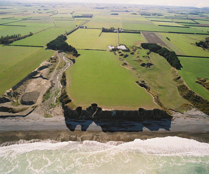Coastal erosion, New Zealand, May 1994.