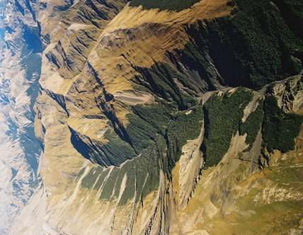 Fault trace, New Zealand, 1995.