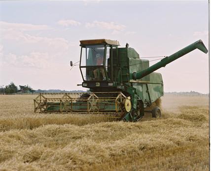Combine harvester, New Zealand, 1997.